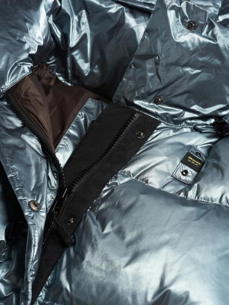 Пуховик BLAUER перламутровый с поясом